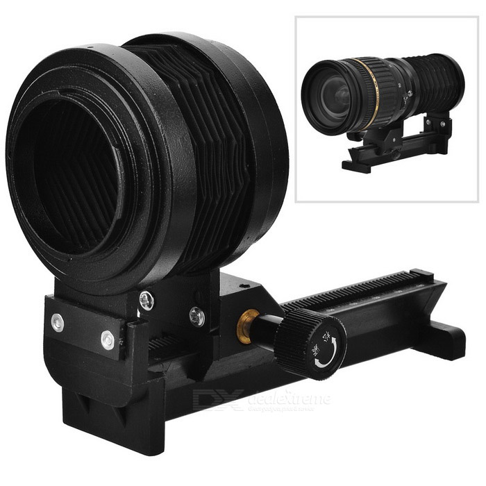 Adjustable Bellows Focusing Attachment for Nikon Camera - Black