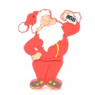 Christmas Santa Claus Style USB 2.0 Flash Drive - Red + White (8GB)
