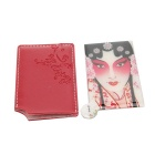Peony Pavilion Modelo de acero inoxidable Cosmetic Mirror w / Case - Red (9,3 x 5.3cm)
