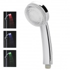 Water Temperature Controlled 3-Color LED Shower Head - Silver