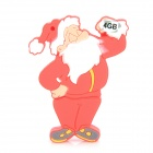 002 Santa Claus Style USB 2.0 Flash Drive - Red (4GB)
