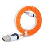 USB Male to Micro USB Male Data Charging Cable for Samsung / HTC - Green + White + Orange (95cm)