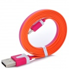 USB Male to Micro USB Male Data Charging Cable for Samsung / HTC - Deep Pink + White (95cm)