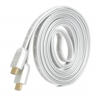 3D Ethernet 1080p HDMI V1.4 Male to Male Connection Flat Cable - Silver (290cm)