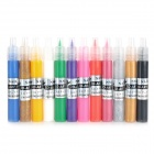 12-Color Nail Art Paint Pens Set - Multicolored (12PCS)