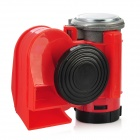 110dB Snail Compact Air Horn for Car Vehicle Motorcycle - Red + Black