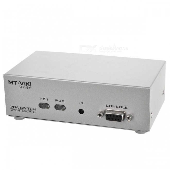 350Mhz 2-IN/4-OUT Programmable VGA Switch/Splitter Box (100~240V AC)