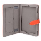 Étui de protection en cuir PU pour iPad 2 / Le nouvel Ipad - Orange