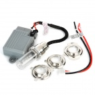 H6 35W 2600lm 6000K 1-HID White Light Xenon Lamp Motorcycle Headlamp Set - Grey