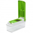 Multi-Function Vegetable Fruit Nicer Dicer Kitchen Tools Cutter Plus Peeler - Green + White