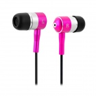 JBM EV-521 3.5mm Plug In-Ear Earphone - Deep Pink (120cm-Cable)