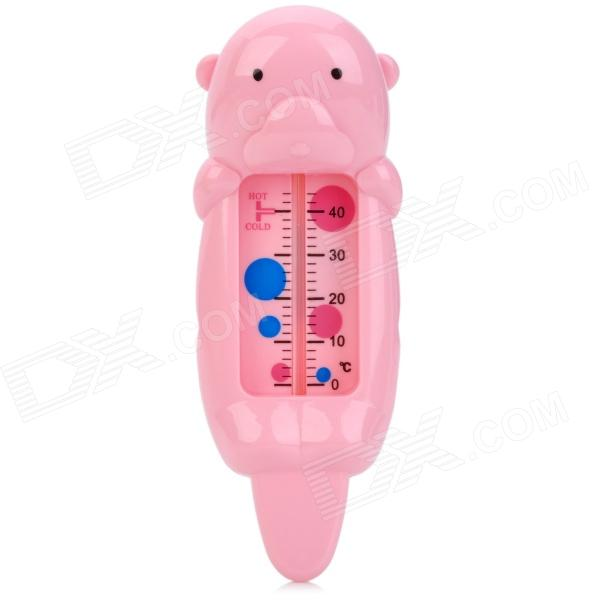Cute Bear Style Infant Water Thermometer - Pink