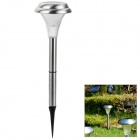 Automatic Solar Powered 1-LED White Light Lawn / Garden Lamp - Silver