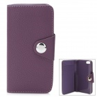 Protective PU Leather Cover Plastic Case for Iphone 5 - Purple