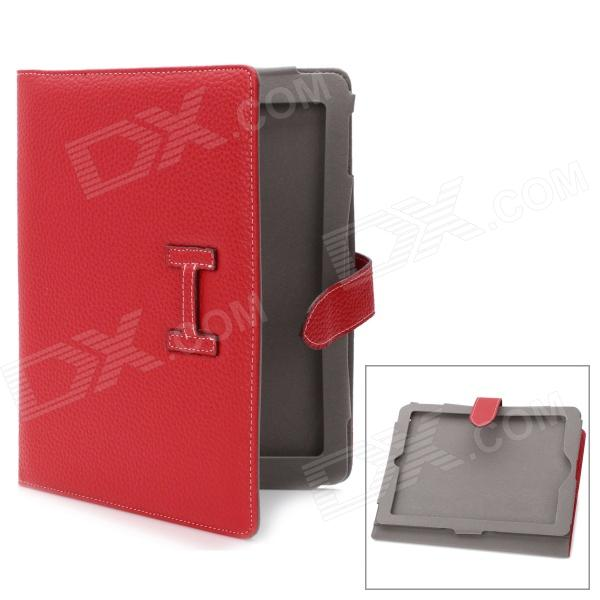 Protective PU Leather Case for Ipad 2 / The New Ipad - Red janssen гель миорелаксант janssen skin regeneration de contract serum gel 190p 50 мл