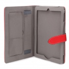Protective PU Leather Case for Ipad 2 / The New Ipad - Red