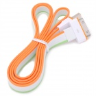 Flat USB Sync Data / Charging Cable for iPhone / iPad / iPod - White + Orange + Green