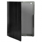 Protective Genuine Leather Case with PP Holder for Ipad 2 / New Ipad - Black