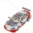 Mini Rechargeable Palm-Sized 35MHz Radio Control R/C Racing Car - Grey + Red