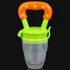 oyful Baby Silicone Nipple Bottle Food Feeder - Green + Orange