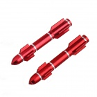 DIY Motorcycle Aluminum Long Rocket Nut - Red (2 PCS)