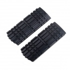 DIY Motorcycle Aluminum Alloy Non-slip Front Foot Pedals - Black (2 PCS)