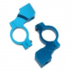 DIY Motorcycle Aluminum Alloy Rearview Mirror Fixing Clamp - Blue (2 PCS)
