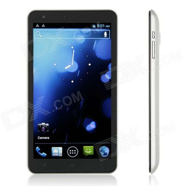 "DaPeng i9800 Android 4.0 WCDMA Phone w/ 6.0"" Capacitive Screen, Wi-Fi, GPS and Dual-SIM - Silver"