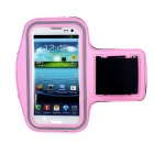 Waterproof Outdoor Sports Lycra Fabric Armband for Samsung Galaxy S III / i9300 - Black + Pink