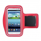 Wasserdichte Outdoor Sports Lycra Stoff Armband für Samsung Galaxy S III / i9300 - Black + Red