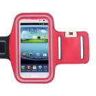 Waterproof Outdoor Sports Lycra Fabric Armband for Samsung Galaxy S III / i9300 - Black + Red