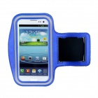 Waterproof Outdoor Sports Lycra Fabric Armband for Samsung Galaxy S III / i9300 - Black + Blue