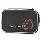 Protective Artificial Leather Bag Pouch for Nintendo 3DS LL / DSi LL / DSi XL - Black