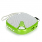3W Mini Rechargeable MP3 Music Speaker Player w/ FM / USB / TF - Green