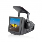 "P3W 3.0"" TFT 5.0MP 1080P CMOS Wide Angle Car DVR Camcorder w/ Car Charger - Black (DC 12~24V)"