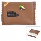Chocolate Packaging Style Protective PU Leather Bag - Coffee (Size-S)