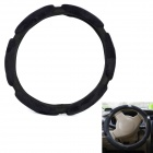 Comfortable Suede Leather Protective 3D Steering Wheel Cover - Black