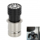 Metal Socket Auto Car Cigarette Lighter w/ Crystal - Black (12V / 24V)