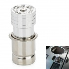 Metal Socket Auto Car Cigarette Lighter w/ Crystal - Silver (12V / 24V)