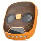 Rechargeable Bluetooth v2.0 Speaker w / Single Channel / SD / USB - Orange + Schwarz