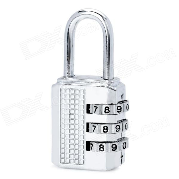 Mini 3 Digital Stainless Steel Security Combination Padlock -Silver