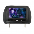 "7"" HD LCD 800 x 480 Screen Car Headrest Monitor with Remote Controller / AV-IN - Black (2 PCS)"