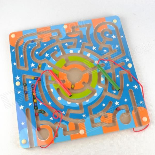 Wooden Magnetic Labyrinth Maze Educational Game Toy wooden magnetic labyrinth maze educational game toy
