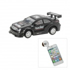 Android Controlled 1:64 4-CH R/C Racing Car Model - Black