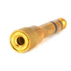 Hombre 6.5mm a 3.5mm hembra adaptador de audio - Golden (2 PCS)