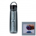 Multifunction Sports Leakproof Water Bottle - Grey + Black (750ml)
