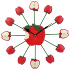 JIAXINGWANG SZ-211.010 33cm Apple Style Ultra-Quiet Clock - Red (1 x AA)