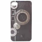 Protective Classic Camera Pattern Plastic Back Case for Iphone 4 / 4S - Black