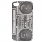 Protective Classic Radio Pattern Plastic Back Case for Iphone 4 / 4S - Black