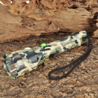 New-Q82 Cree XR-E Q5 250lm 5-Mode White Light Flashlight - Camouflage Green (1 x 18650)
